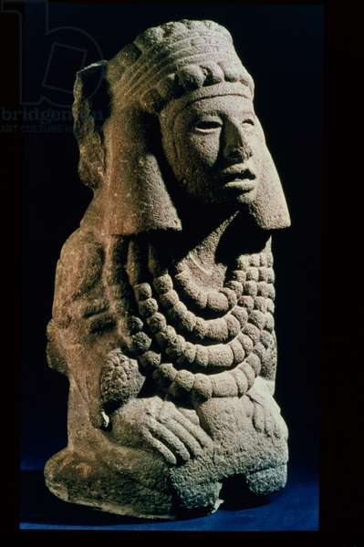 The Goddess Chalchihuitlicue, found in the Valley of Mexico, 1300-1500 AD (stone)