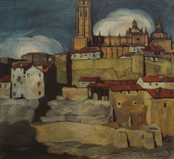 Segovia Cathedral, 1909 (oil on canvas)