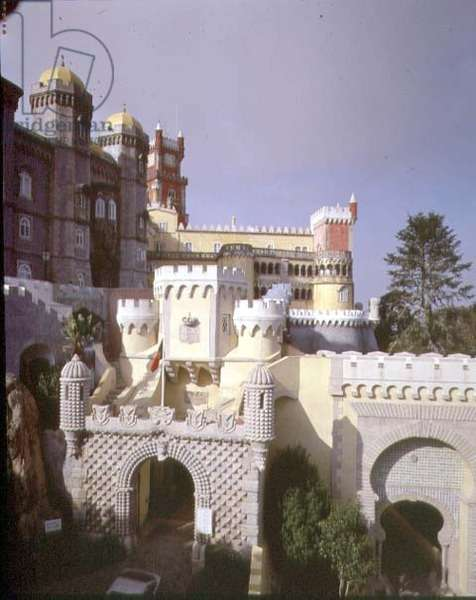 National Palace of Pena, Sintra, 19th century (photo)