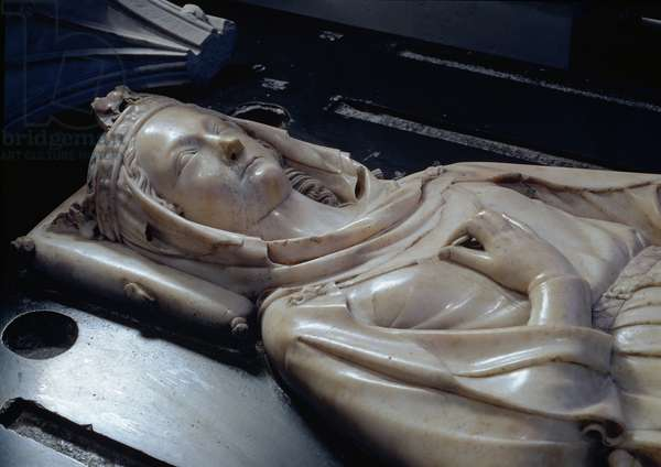 Effigy of Isabel of Aragon (1243-71) (mrable)