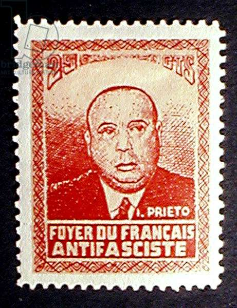 Commemorative stamp 'Foyer du Francais Antifasciste' (colour litho)