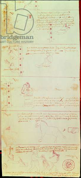 Illustrated page from the 'Libro de Viajes de Tonayuca' II (ink on paper)