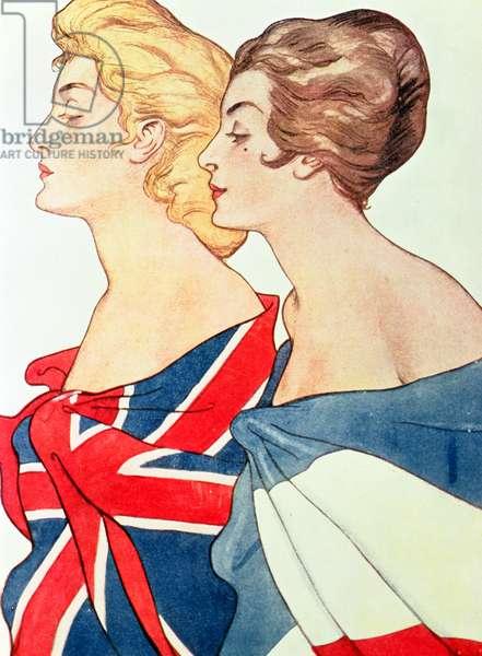 The Two Allies (colour litho)