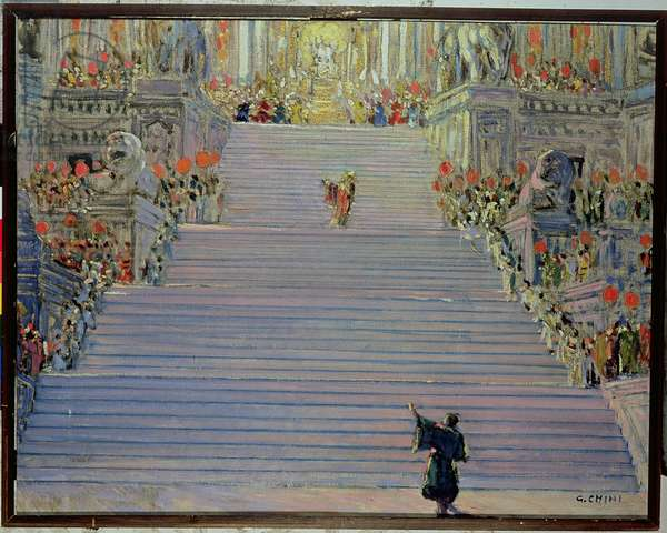 Set design for the opera 'Turandot' by Puccini