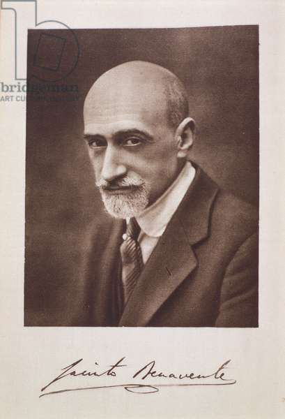 Portrait of Jacinto Benavente (1866-1954) (b/w photo)
