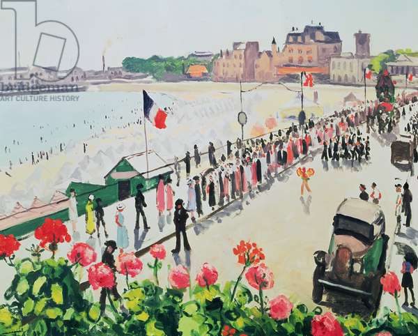 Fête aux Sables d'Olonne, 1933 (oil on canvas)