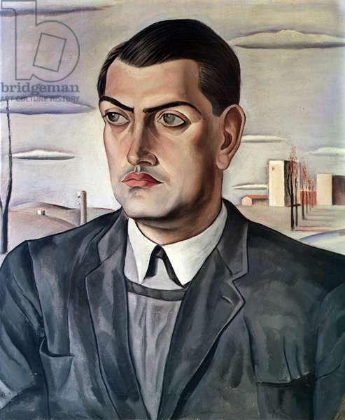 Portrait of Luis Bunuel (1900-83), 1924 (oil on canvas)