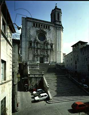 View of the west front designed by Pedro Costa (d.1761) 1730-33, and monumental staircase, 1680s (photo)