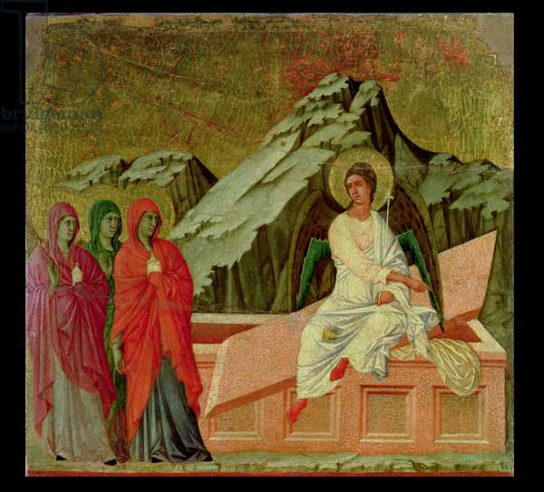 Maesta: The Three Maries at Christ's Tomb, 1308-11