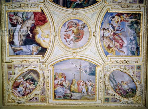 Ceiling painting depicting the Story of Perseus and Danae