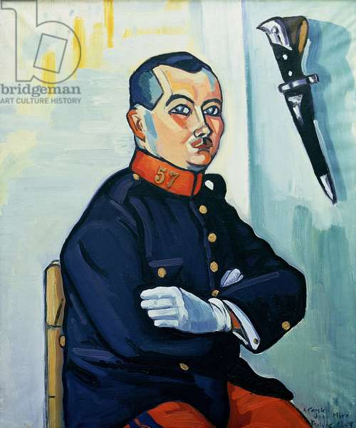 Portrait of Joan Miro (1893-1983) (oil)