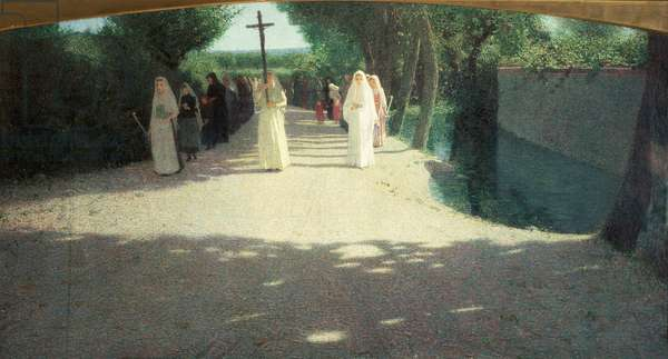 The Procession, 1892-95 (oil on canvas)
