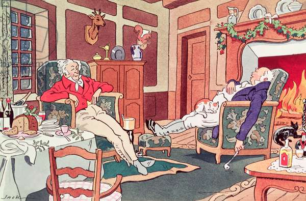 After Christmas Lunch (signed: Jack) (print)