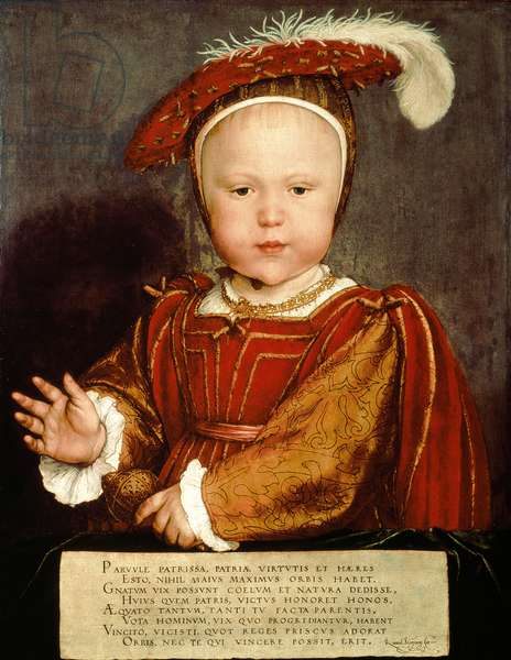 Portrait of Edward VI as a child, c.1538 (oil on panel)