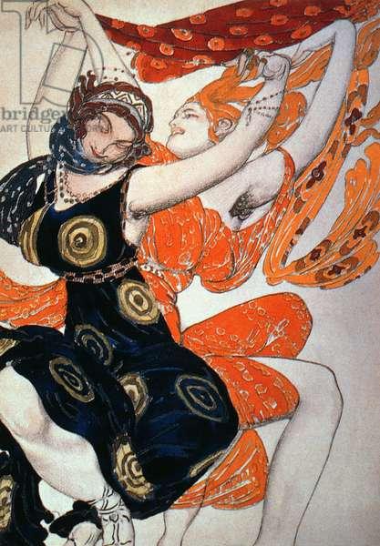 Operatic costume designs, 1911 (colour litho)