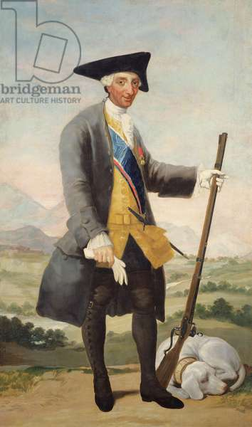 King Carlos III in hunting dress, c.1786 (oil on canvas)