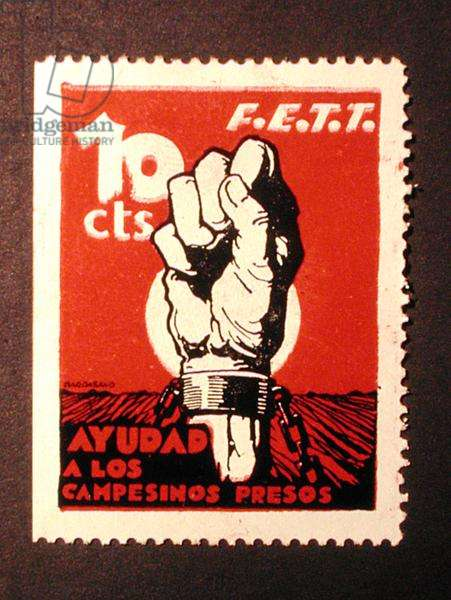 Stamp commemorating F.E.T.T 'Aid for Imprisoned Peasants'