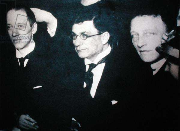 Friends of Anna Akhmatova (1889-1966): Gilogov and Alexander Alexandrovich Block (1880-1921) (b/w photo)