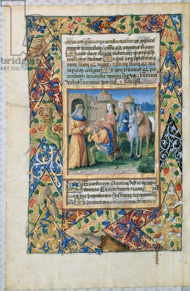 Ms Lat. Q.v.I.126 Scene from the 'Hours of Louis d'Orleans', 1469 (vellum)
