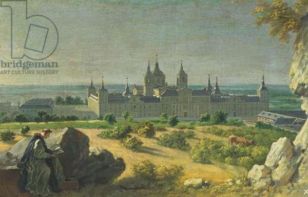 The Monastery of El Escorial (oil on canvas)