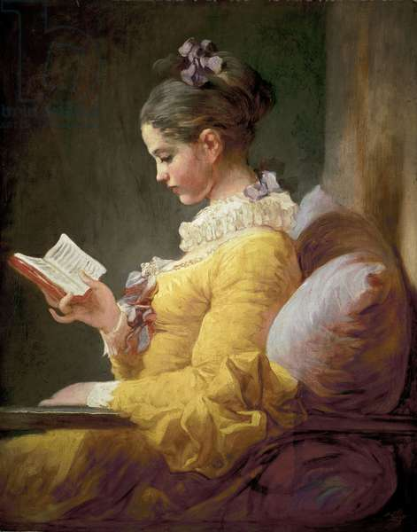 Young Girl Reading, c.1770 (oil on canvas)