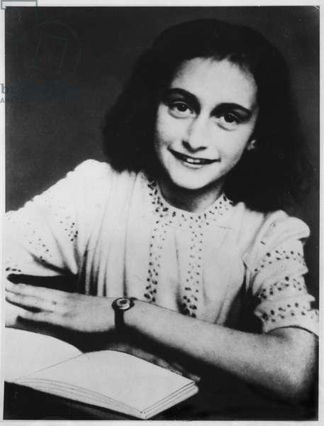 Anne Frank (1929-45) here c.1942 (b/w photo)