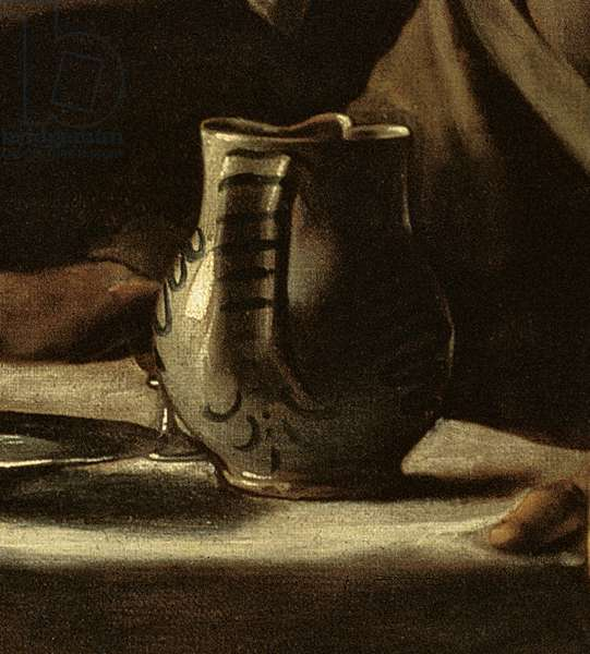 Detail of jug from Supper at Emmaus, 1606 (oil on canvas)