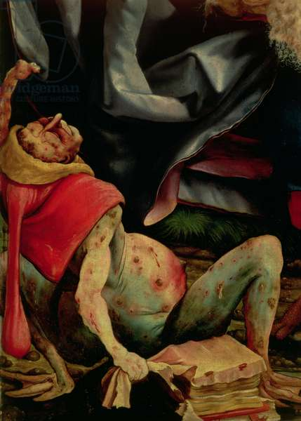 Suffering Man, detail from the reverse of the Isenheim Altarpiece, c.1510-15 (oil on panel)