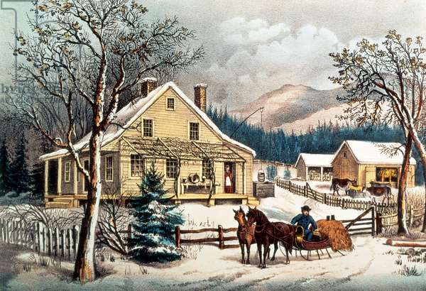 The Old Farm House, pub. by Currier & Ives, 1872 (print)