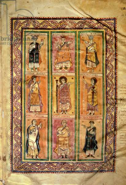 F.142 Saracens, from Abelda's Councilar Codex (vellum)