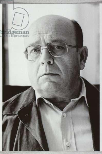 Manuel Vazquez Montalban (b.1939) (b/w photo)