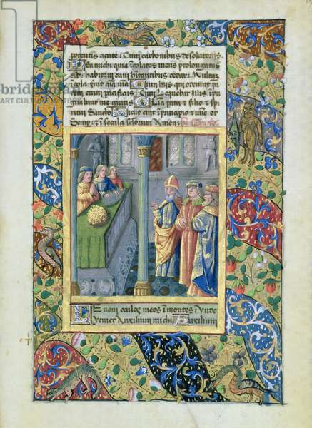 Ms Lat. Q.v.I.126 The Order of the Golden Fleece from the 'Hours of Louis d'Orleans', 1469 (vellum)