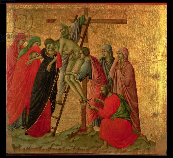 Maesta: Descent from the Cross, 1308-11