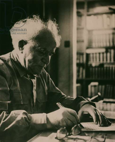 David Ben-Gurion (1886-1973) (b/w photo)