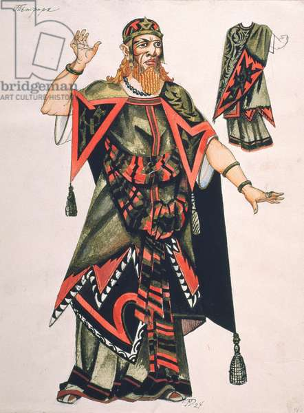 Herod from the opera 'Salome' by Richard Strauss (1864-1949) (gouache on paper)