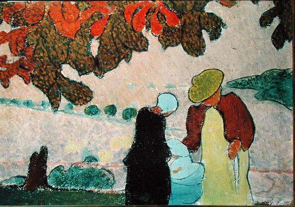 In the Garden, 1896 (oil on canvas)
