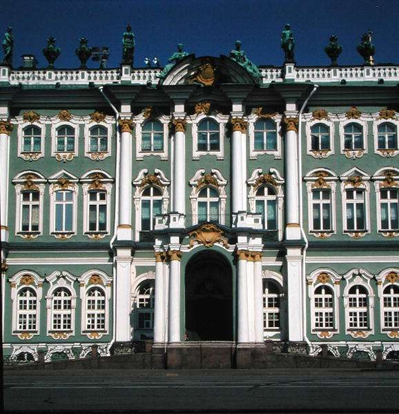 Facade of the Hermitage, 1753-62 (photo) (detail)