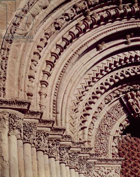 Sculptural detail from the facade of the main portal (stone)
