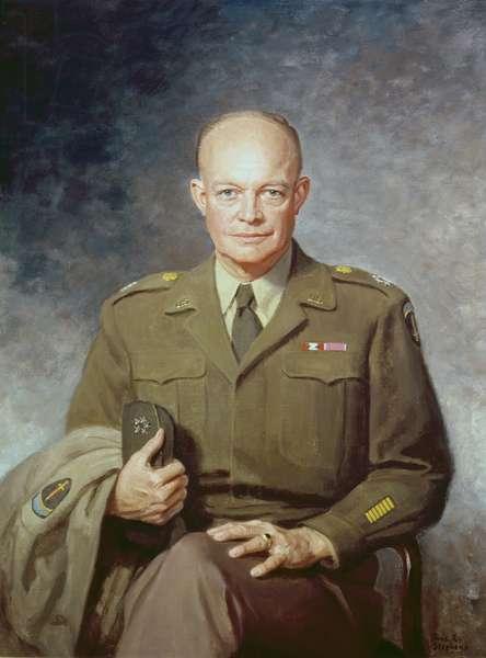 Portrait of Dwight D. Eisenhower (1890-1969) 1947 (oil on canvas)