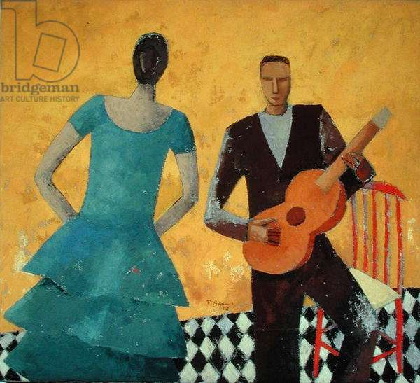 Guitarist and Singer, 2002 (oil on canvas)