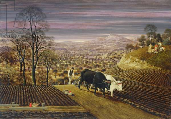 Autumn Landscape, 1931 (oil on board)