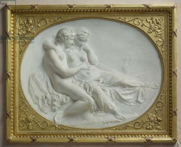 Bacchus comforting Ariadne, 1793 (marble)