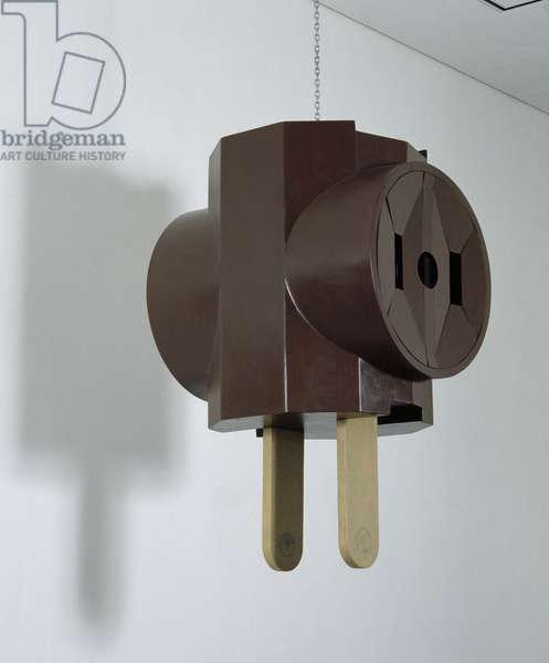 Three-Way Plug, Model, 1969 (wood & masonite)