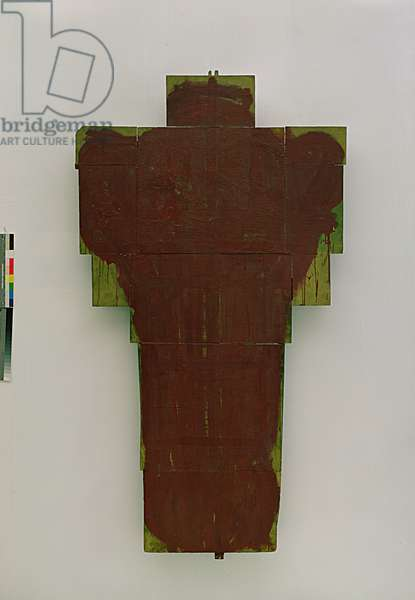 Cross, 1980-86 (mixed media on cardboard on wood)