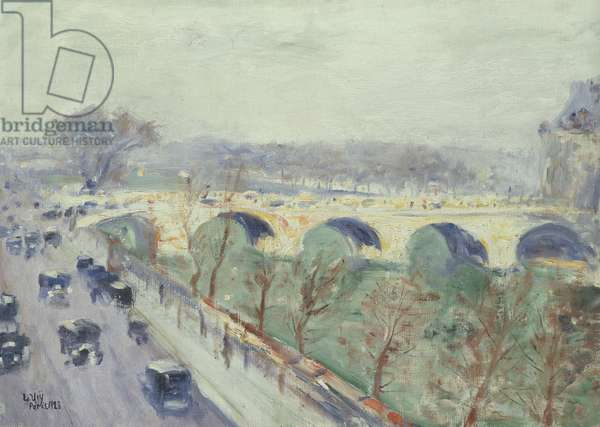 The Pont Royal in Paris, 1928 (oil on canvas)