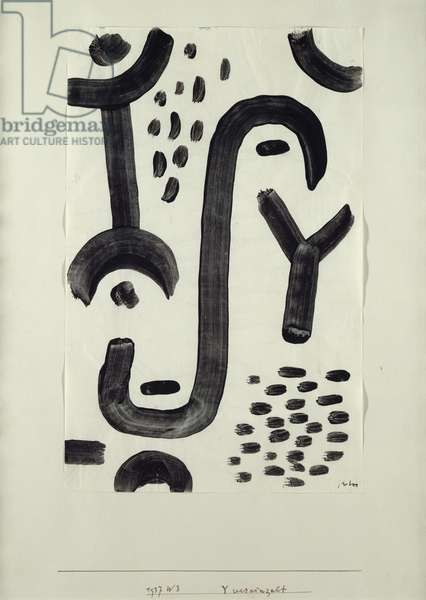 Y isolated, 1937 (no 243) (coloured paste on paper on cardboard)