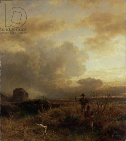 Clearing Thunderstorm in the Countryside, 1857 (oil on canvas)