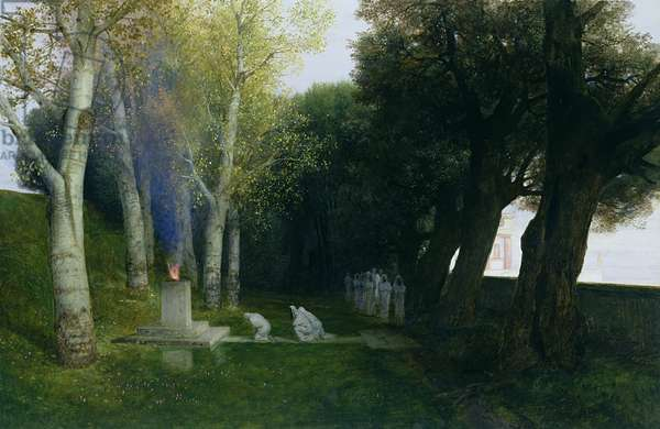Sacred Grove, 1886 (oil on panel)