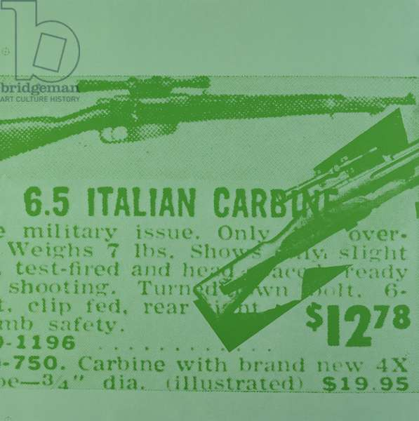 6.5 Italian Carbine from Flash - November 22, 1963 (screenprint on paper) (see also 182851-182860)