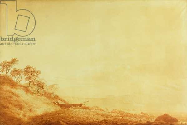 Looking towards Arkona at sunrise, 1801 (ink on paper)